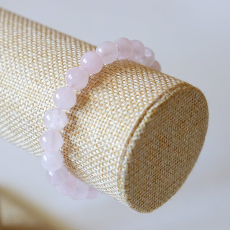 Bracelet en Quartz Rose – Perles 8mm - Joy of London Jewels