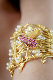 Winged Bettle Statement Bracelet - Joy of London Jewels