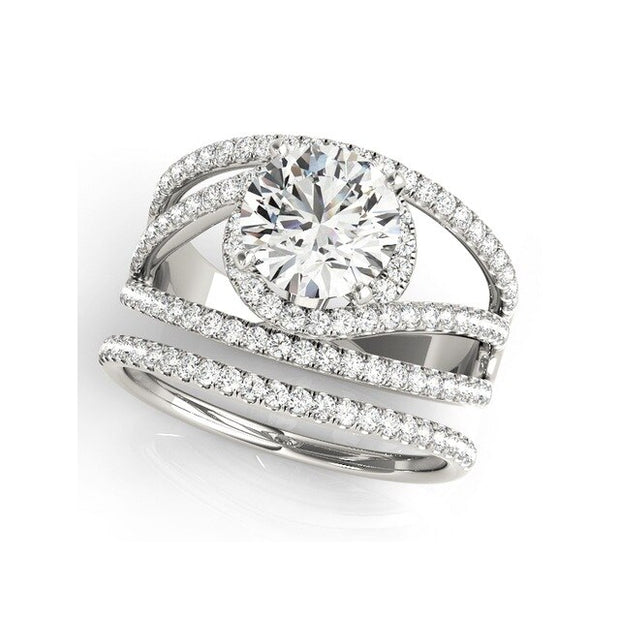 A Flawless 1CT Round Cut Halo Belgium Lab Diamond Bridal Set - Joy of London Jewels