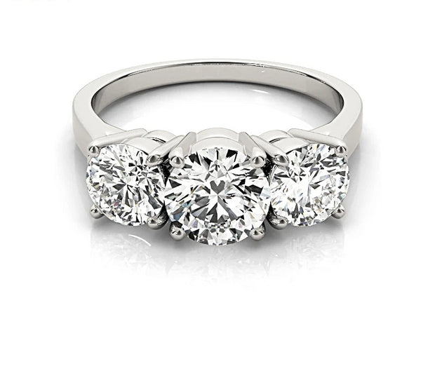A Flawless Three Stone Journey Belgium Lab Diamond Engagement Ring - Joy of London Jewels