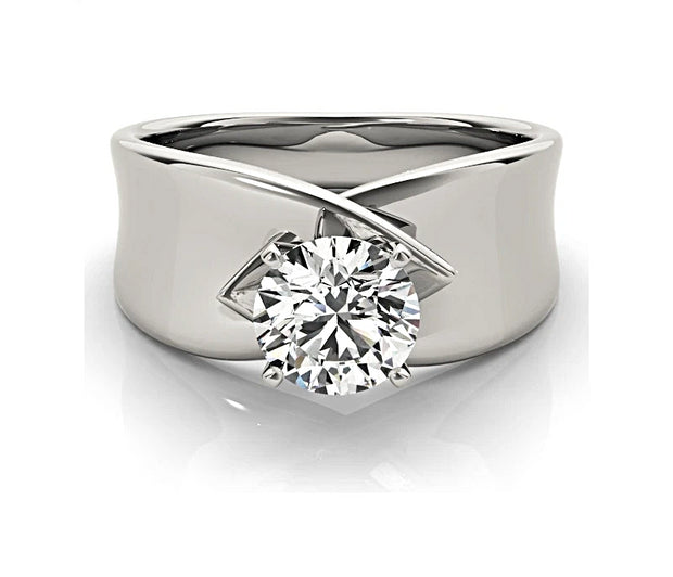 A Flawless 1CT Round Cut Solitaire Belgium Lab Diamond Engagement Ring - Joy of London Jewels