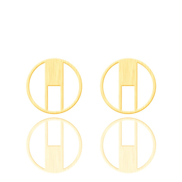 Minimalist Geometric Square Circle Studs - Joy of London Jewels