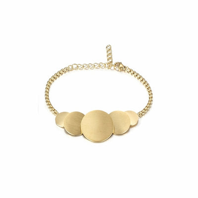 Minimalist Round Disk Bracelet - Joy of London Jewels