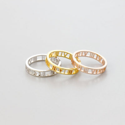 Personalized Lucky Roman Numerals Numbers Ring - Joy of London Jewels