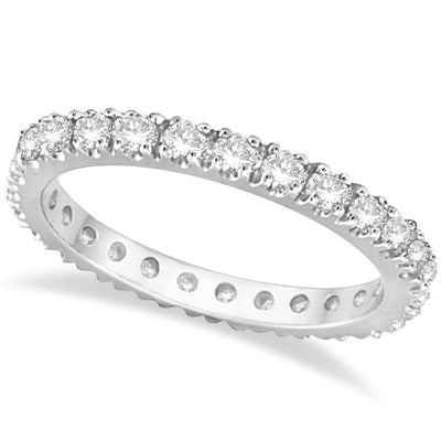 1.6mm Natural Earth Mined Full Eternity Stacking Ring