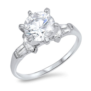 A Flawless 2CT Round Cut Russian Lab Diamond Engagement Ring