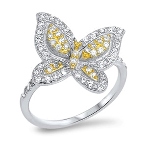 SALE   The Heirloom Fancy Butterfly Cubic Zirconia Ring