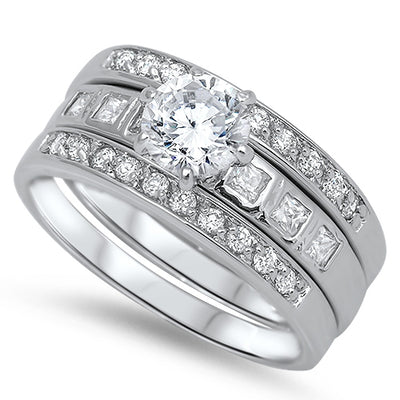 L' Equistia, A Perfect 1CT Round Cut Stacking Bridal Set - Joy of London Jewels