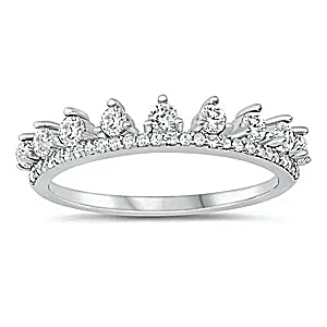 Princess Blanche, A  Round Brilliant Cut Wedding Band Travel Ring - Joy of London Jewels