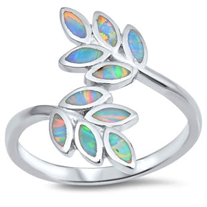 Spring Leaves of Hope Lab Opal Ring