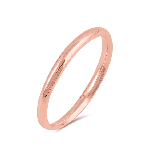 14K Rose Gold 2mm Wedding Band Ring - Joy of London Jewels