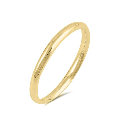 14K Yellow Gold 2mm Wedding Band Ring - Joy of London Jewels