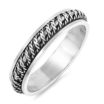 Men Women Braided Unity Wedding Band Ring