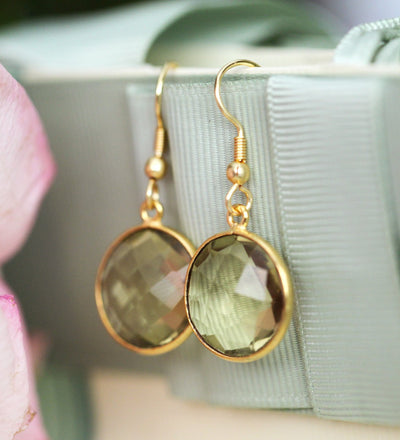 24K Yellow Gold Natural Lemon Quartz Earrings - Joy of London Jewels