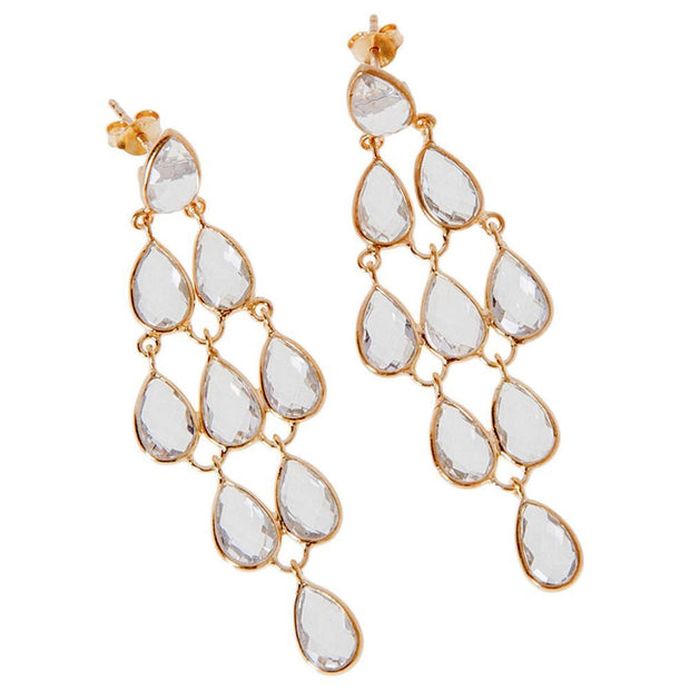 Elishya Crystal Quartz Earrings - Joy of London Jewels
