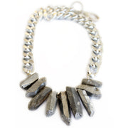Natural Silver Crystal Quartz Necklace - Joy of London Jewels
