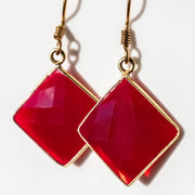 Natural Sinai Chalcedony Square Earrings