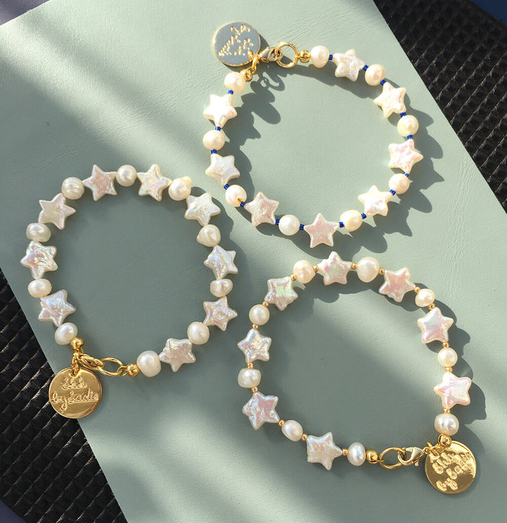 Natural Freshwater Pearl Stars Bracelets - Stack Them! - Joy of London Jewels