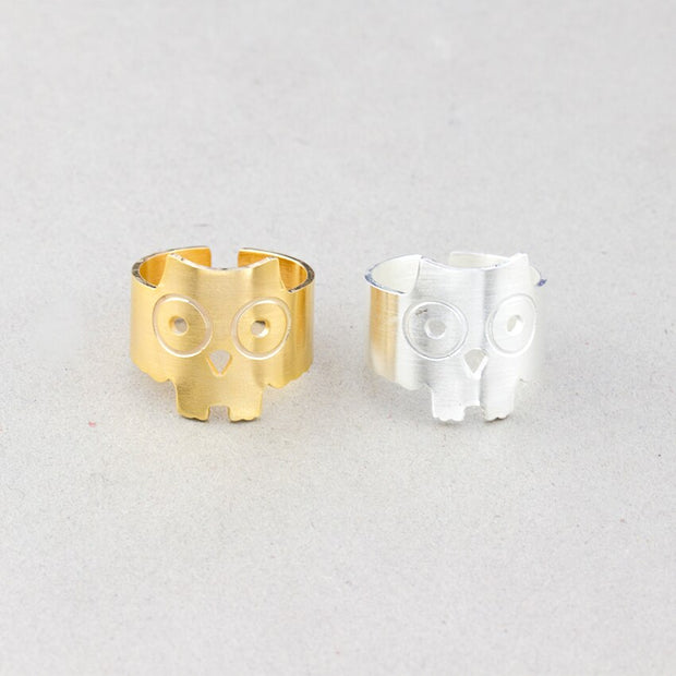 Statement Minimalist Owl Rings