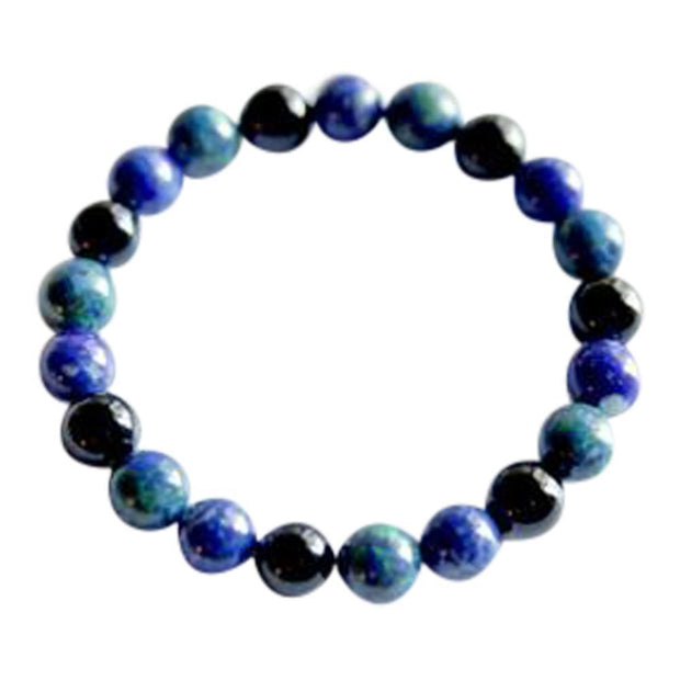 Azurite Malachite, Lapis Lazuli & Black Onyx Bracelet - Joy of London Jewels