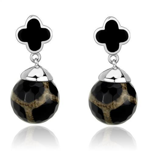 Stainless Steel Onyx Earrings - Joy of London Jewels