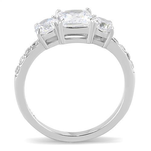 A Princess Cut Journey Three Stone Travel Ring - Joy of London Jewels