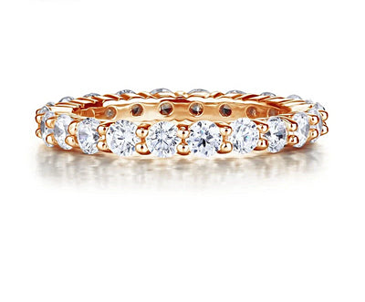 A Flawless Rose Gold Belgium Lab Diamond Wedding Band Ring - Joy of London Jewels
