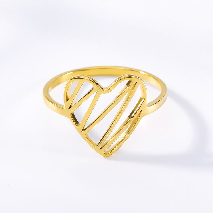 Unique Heart Ring - Joy of London Jewels