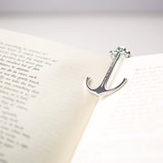 Men or Woman Personalized Book Anchor - Silver & Matt Black - Joy of London Jewels