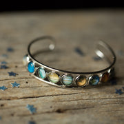 Solar System Silver Bangle Bracelet - Joy of London Jewels