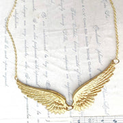 Handmade Golden Wings Necklace