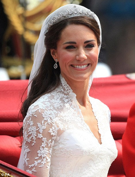 The Duchess of Cambridge Kate Middletons' Wedding Tiara