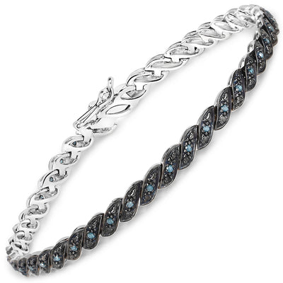 Natural Ethically Mined Blue Diamond Bracelet - Joy of London Jewels