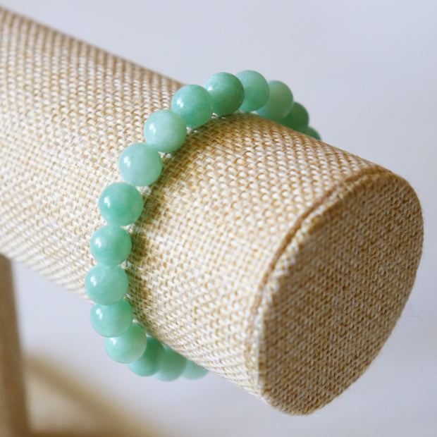 Bracelet en Jade de Birmanie – Perles 8mm - Joy of London Jewels