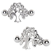 316L Stainless Steel Tree of Life Cartilage Cuff - Joy of London Jewels
