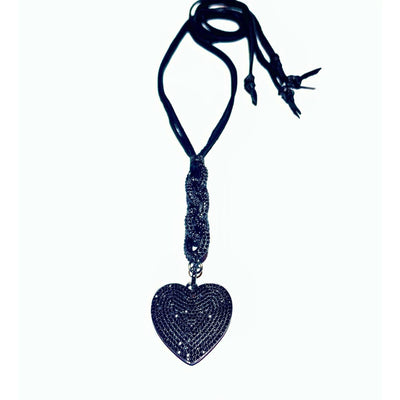Handmade I Love You Black Onyx Necklace