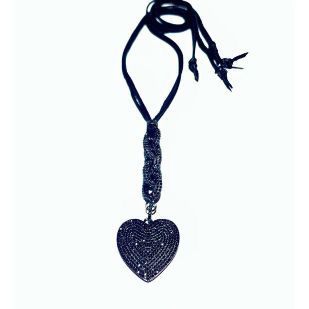 Handmade I Love You Black Onyx Necklace - Joy of London Jewels