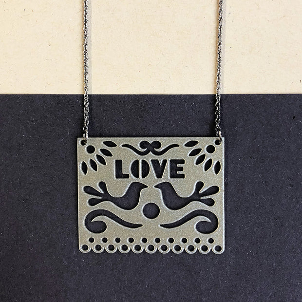 Silver LOVE Pendant Necklace - Joy of London Jewels