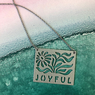Silver JOYFUL Pendant Necklace