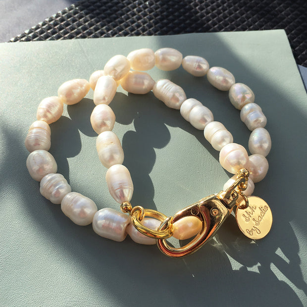 Natural Freshwater Pearl Hardware Necklace