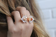 Two Flower Natural Zircon Ring - Joy of London Jewels