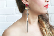 Humming Bird Earrings with Pearl - Joy of London Jewels