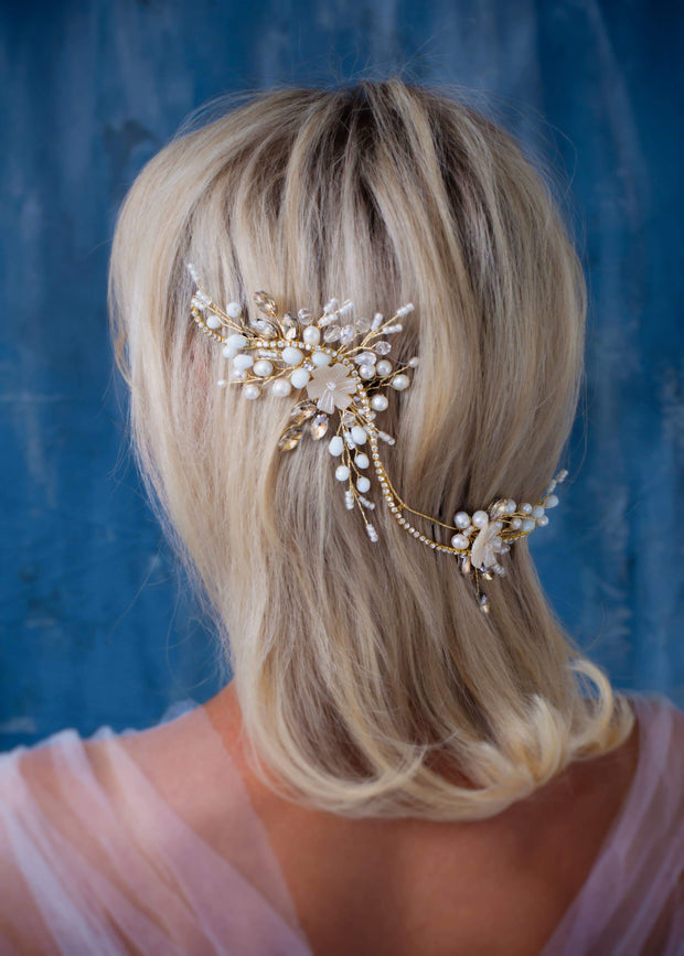 London bridal hair wreath Wedding hair comb