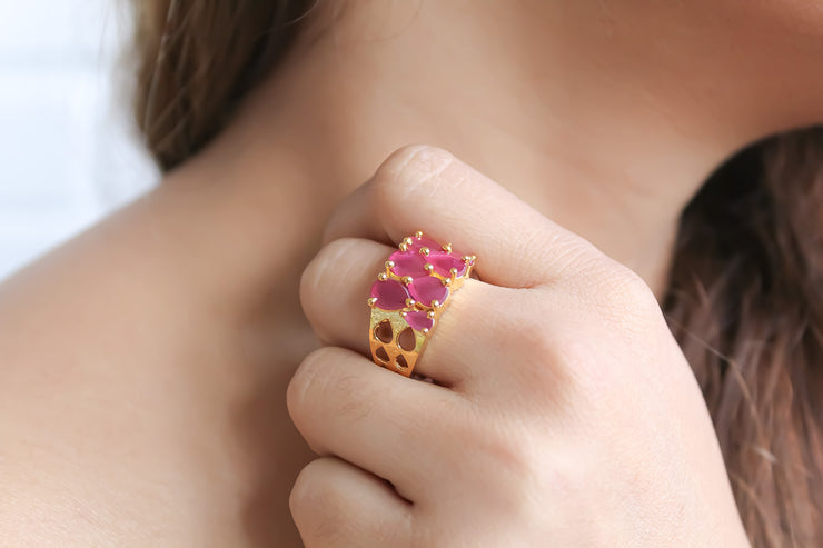 Natural Zircon Stepping Stone Ring - Joy of London Jewels