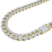 Men's STALLION Gold 18MM CZ Cuban Chain - Joy of London Jewels