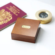 Men's Compass Personalised With Timber Box - Joy of London Jewels