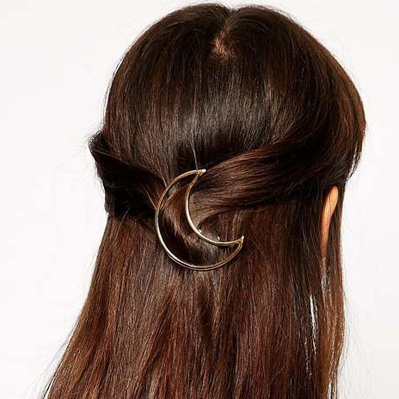 Celebrity Trending Gold Circle Hair Clip Hair Pin Wedding Barrette - Joy of London Jewels