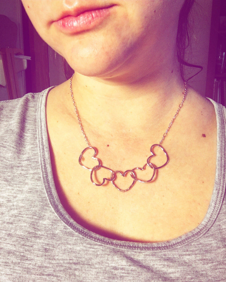 Handmade Heart Linked Necklace