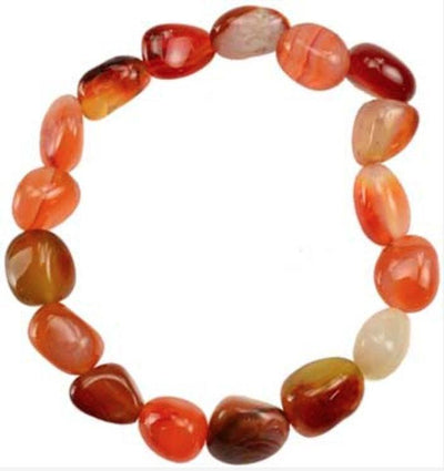 Genuine Tumbled Carnelian Bracelet - Joy of London Jewels