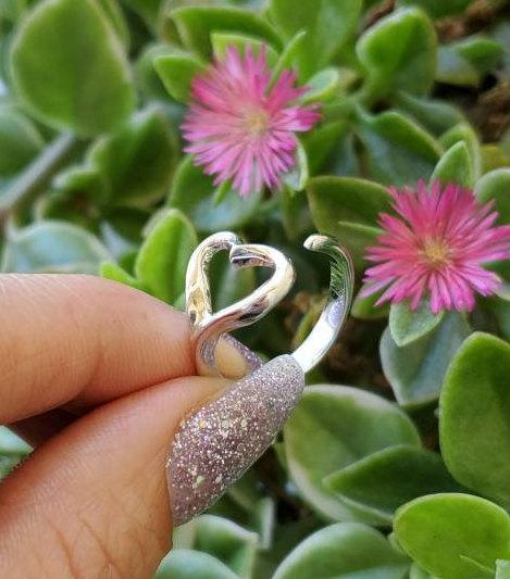 Dainty Single Heart Ring